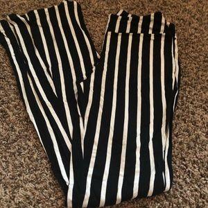 Bell bottom stripped pants